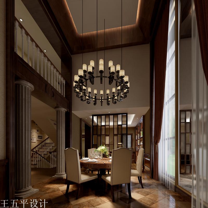 江苏御景豪庭别墅样板房美式风格设计方案